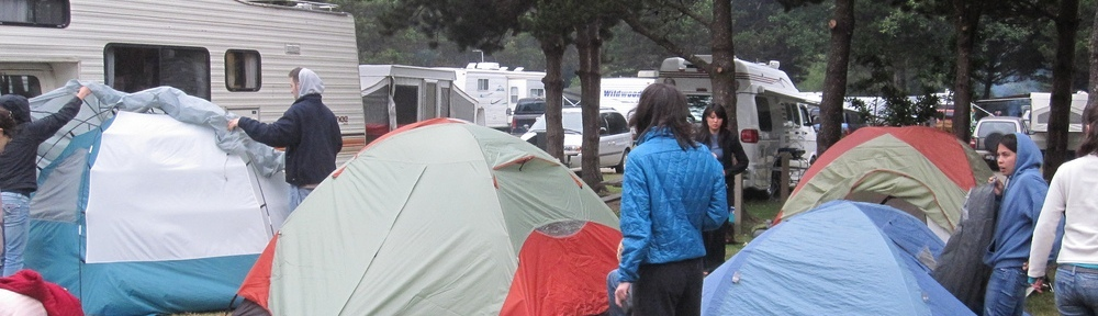 campers in tents and rvs wider
