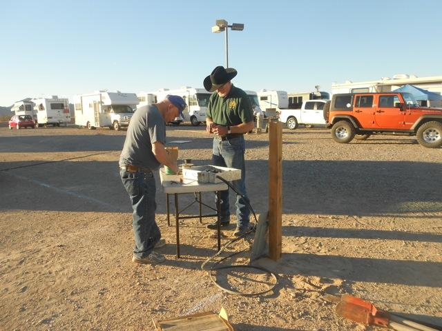 Jim and Larry electrical at Quartzsite